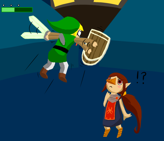 Medli confused about hovering zombie Link