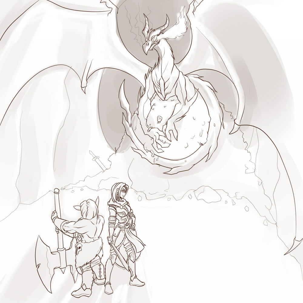 Karina and viking vs dragon